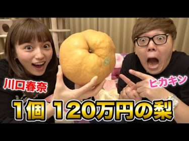 ヒカキン×川口春奈で1個120万の梨食べてみたwww