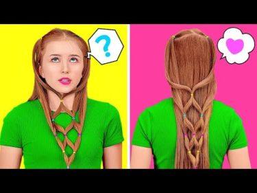 どんな時もかわいい髪型でいるためのライフハック || 女子必見!髪のライフハック