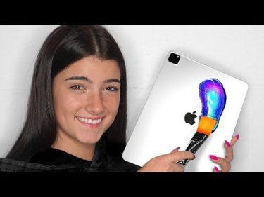Surprising Charli D'Amelio With 10 Custom iPad Pros & Macbooks!!📱💻 ft. Dixie D'Amelio (Giveaway)